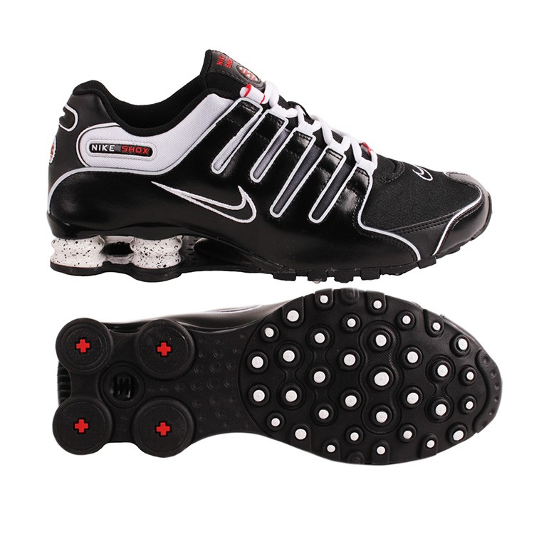 nike shox nz herren sneaker turnschuhe schwarz wei ebay. Black Bedroom Furniture Sets. Home Design Ideas